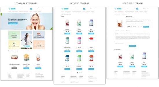 Скриншоты основных страниц StoreVision