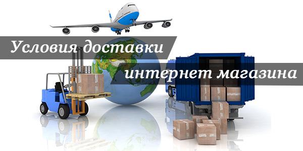 Условия доставки товаров в интернет-магазине - особенности